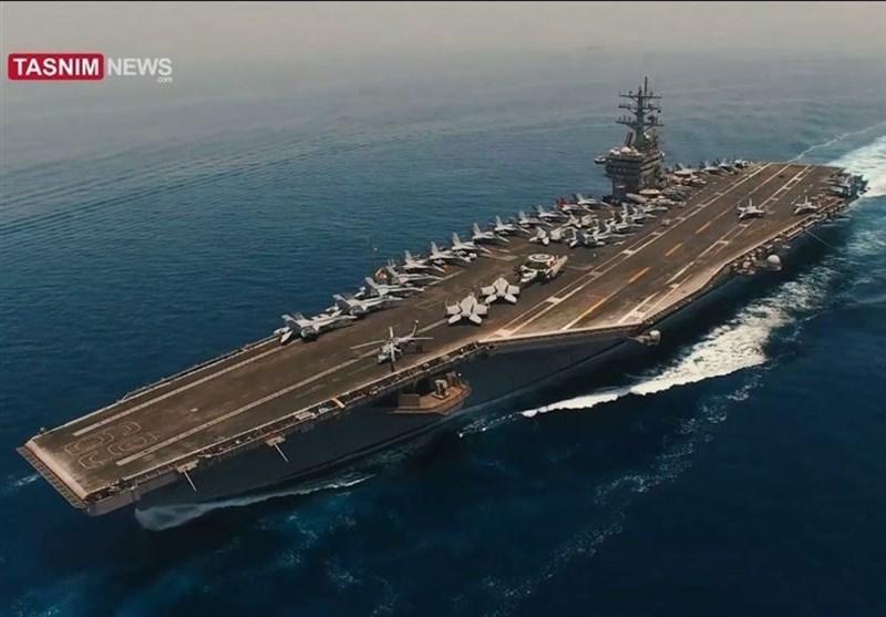 Iranul arată cum supraveghează cu o dronă un port-avion american în Golful Persic. VIDEO