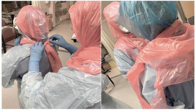 Criză de materiale de protecție la unele spitale din UK. Medicii folosesc pungi de gunoi