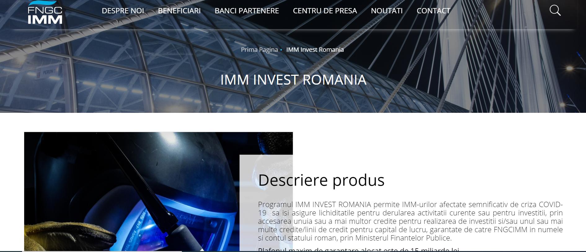 Procedura de înscriere în Programul IMM Invest se reia de azi de la zero