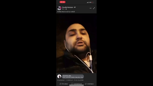 Cine e barbatul care a injunghiat un politist in fata Sectiei 9. A transmis atacul live, cu manele la maximum