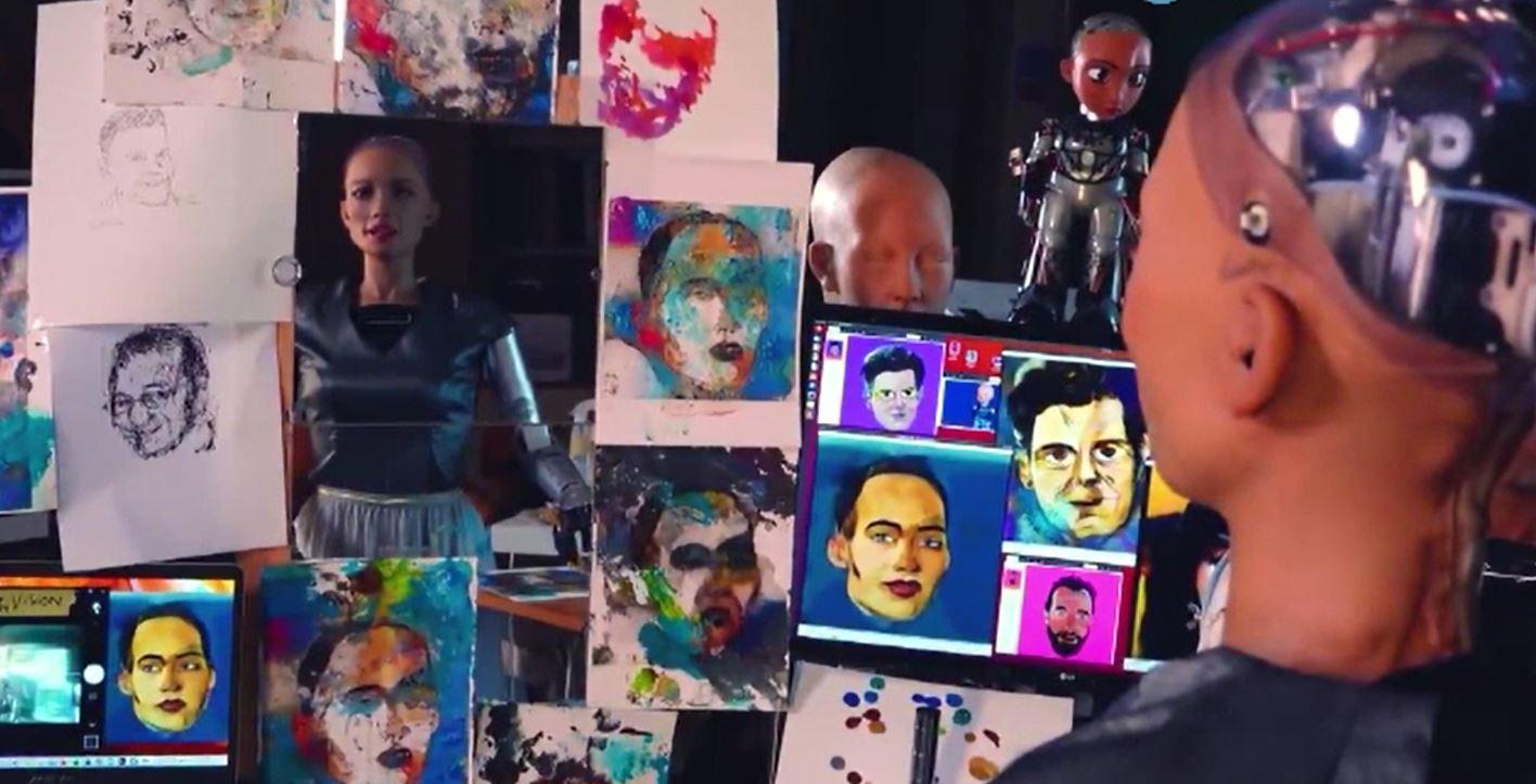 Cu cât a fost vândut un tablou semnat de cunoscutul robot umanoid Sophia
