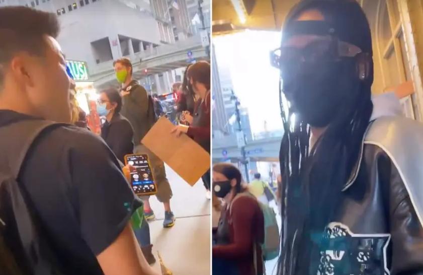A făcut o poză cu femeie la un protest în New York, fără să știe că este o celebritate. Imagini virale