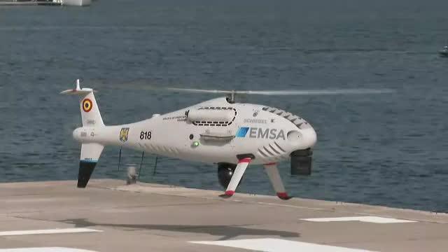 Două drone asemănătoare unor elicoptere supraveghează Marea Neagră. Ce dotări au