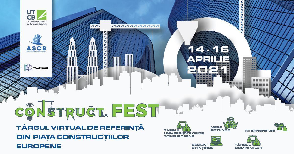 (P) ConstructFest, cel mai mare târg european dedicat pieței de construcții, între 14-16 aprilie, exclusiv online