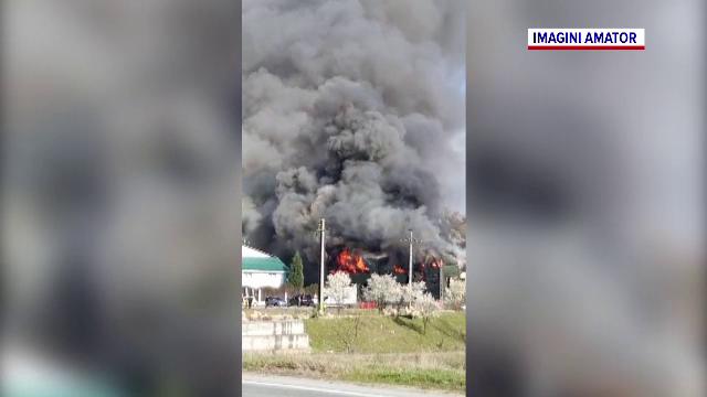 Incendiu uriaș în Olt. De la ce au pornit flăcările