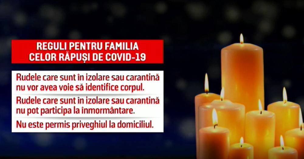 Reguli noi pentru rudele celor răpuși de Covid-19. Ce este interzis în continuare