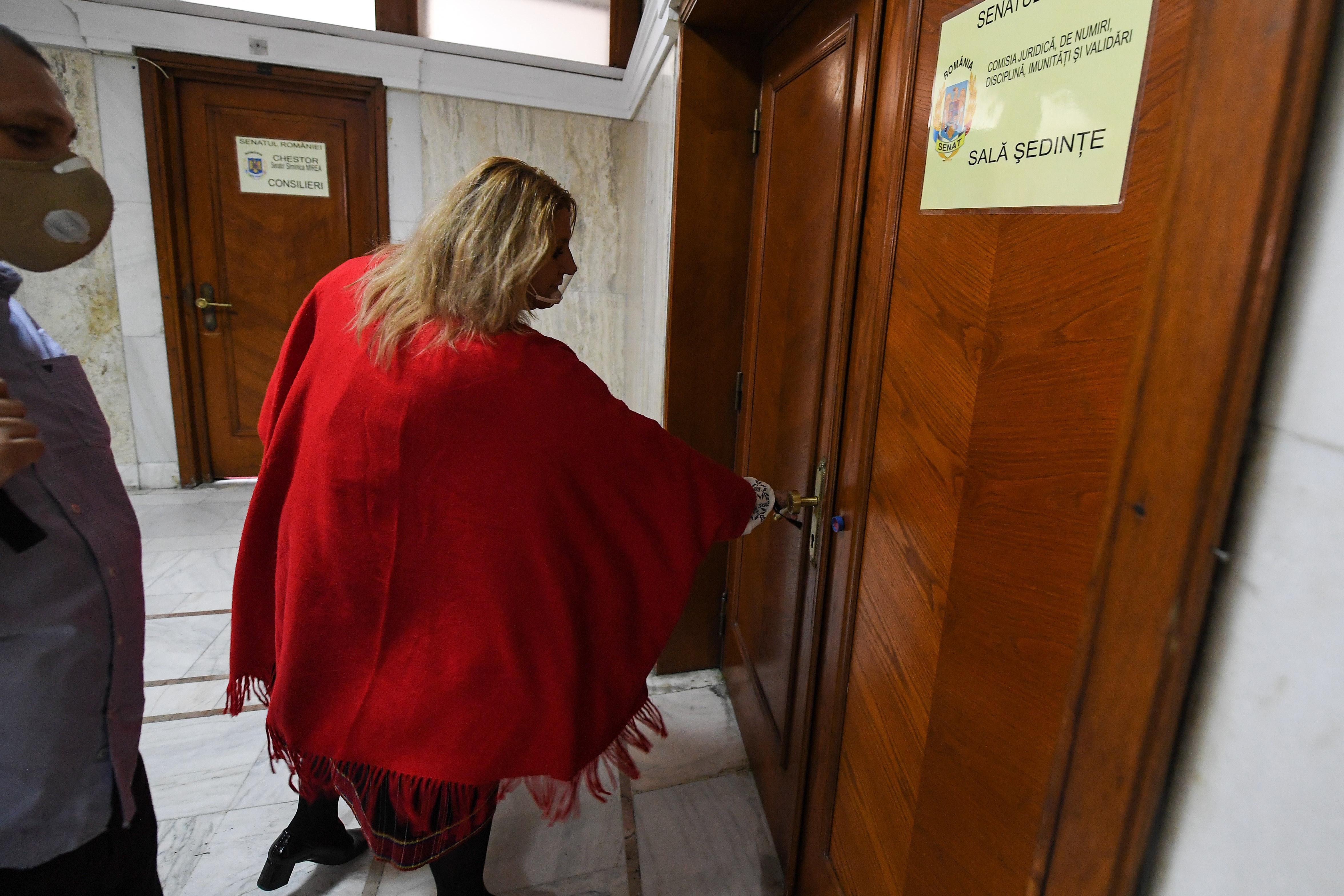 Membrii Comisiei Juridice s-au încuiat cu cheia în sală, de teamă să nu intre Diana Șoșoacă