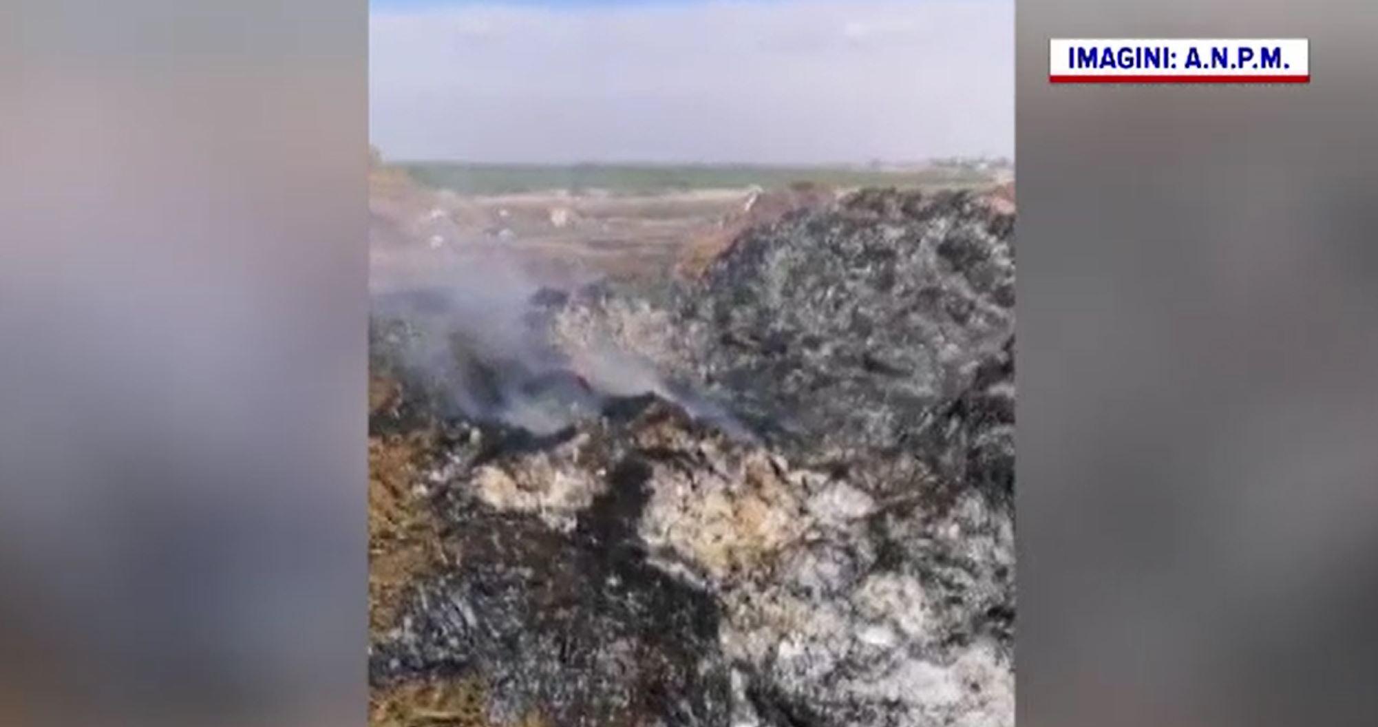Focar de poluare pe malul Dunării. Resturi de animale, arse chiar pe terenul unui primar
