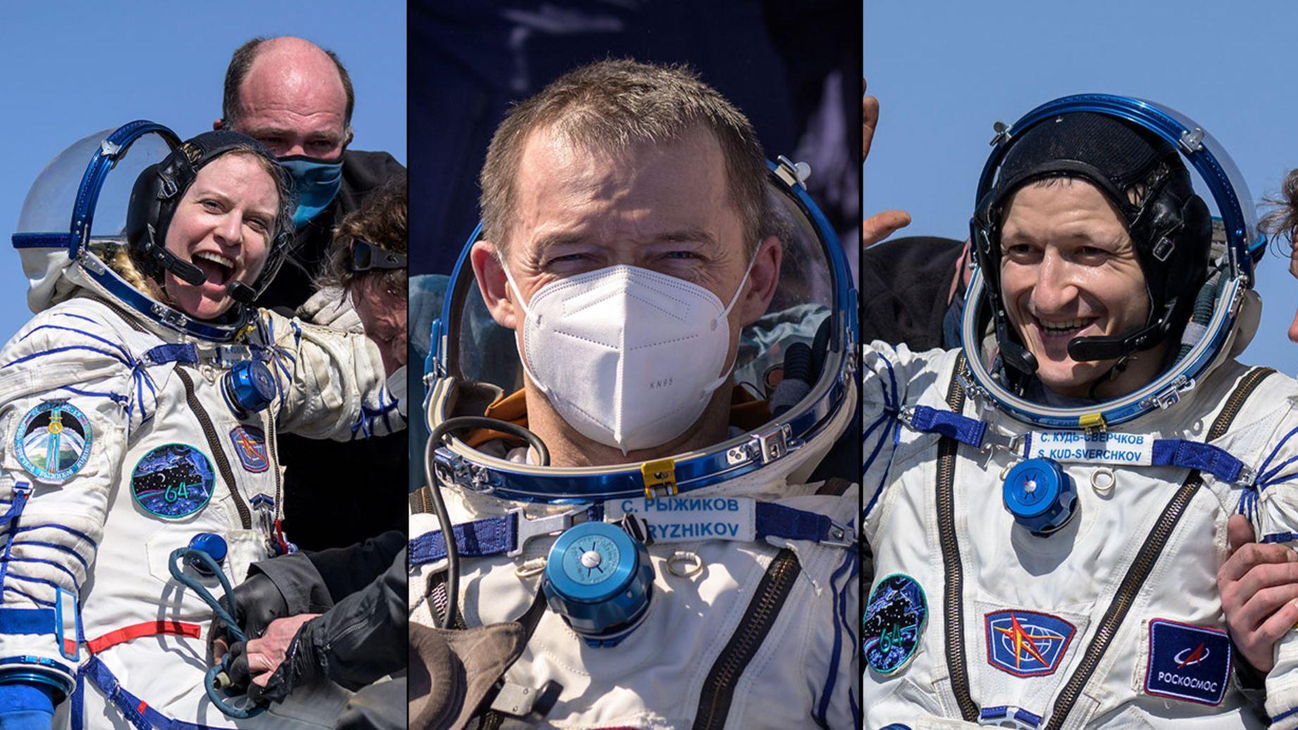 VIDEO. Trei astronauţi s-au întors de pe Staţia Spaţială Internaţională, cu o navă rusească Soiuz