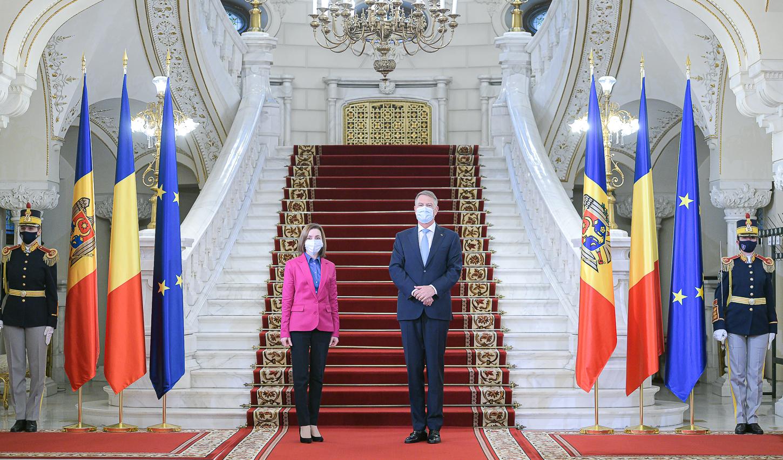 Președintele R. Moldova, Maia Sandu, s-a întâlnit cu Klaus Iohannis la Cotroceni