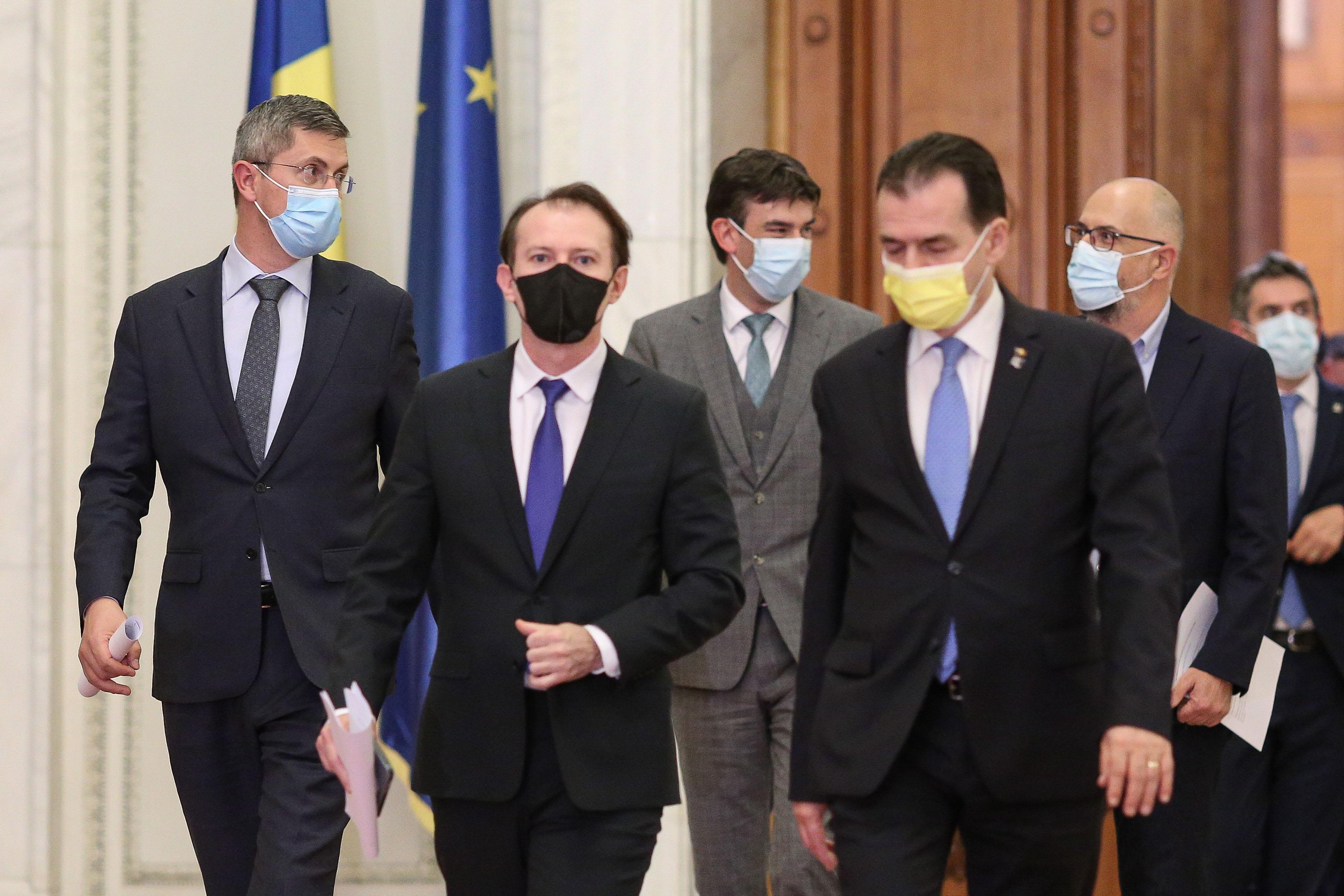 """Ce s-a discutat în ședința tensionată a coaliției. """"Săgeți"""" ironice între Cîțu și Barna"""