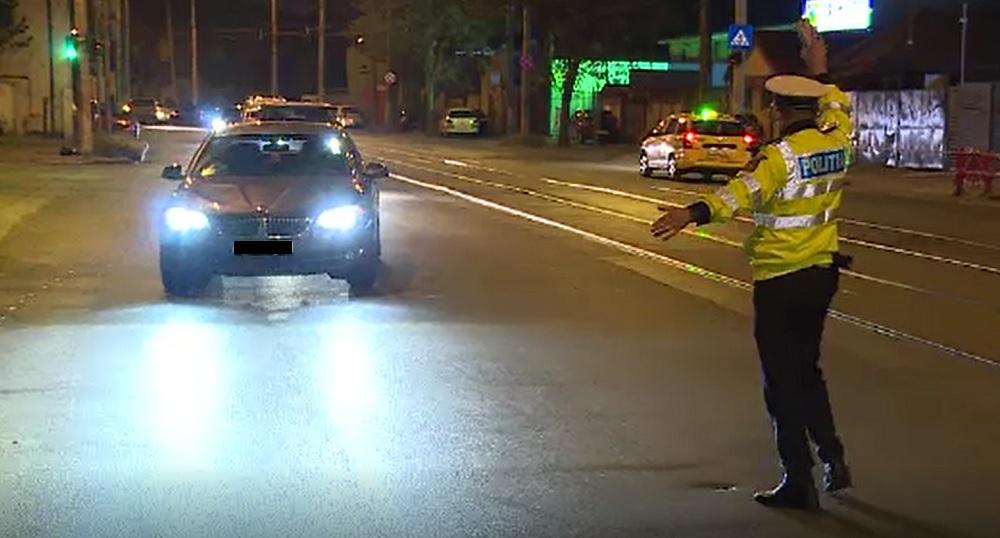 Razie de amploare în București. 15 șoferi au rămas fără persime de conducere