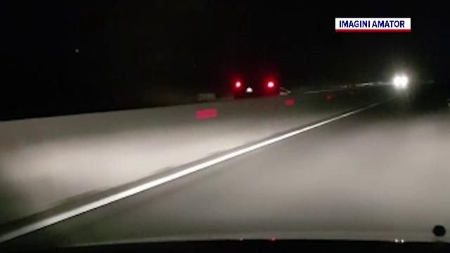 Un șofer a parcurs peste 50 de km pe contrasens, pe DN1, în toiul nopții, cu 130 km/h