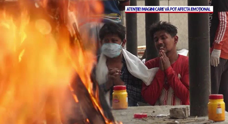 India, îngenuncheată de COVID-19. Cadavrele au ajuns să fie incinerate în parcuri și parcări
