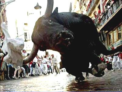 Spectaculos. Rodeo ad-hoc in Times Square, pe tauri adevarati