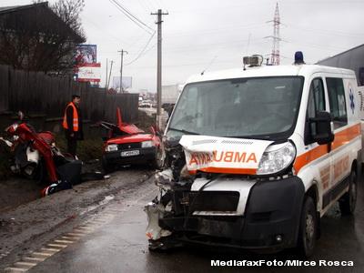 Grave accidente rutiere pe soselele din Dambovita