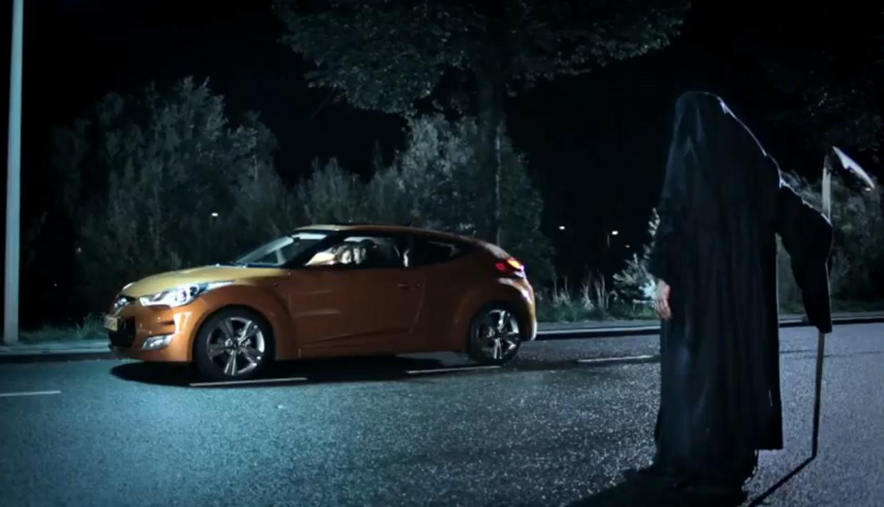 VIDEO. Cand moartea iti deschide portiera. Reclama la Hyundai Volster, prea dura pentru TV