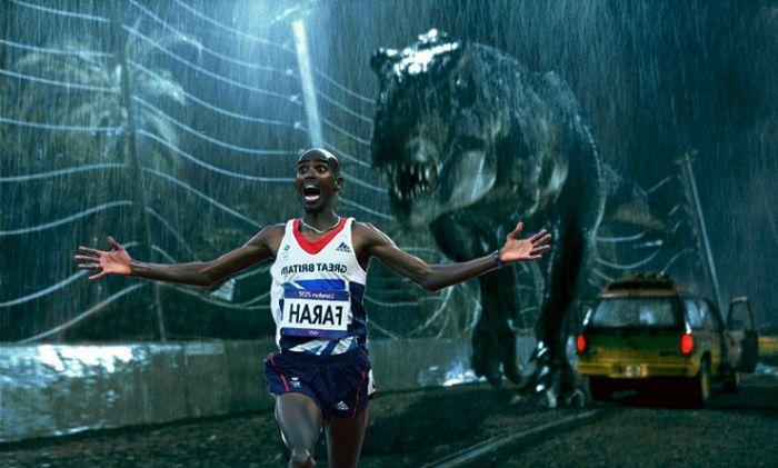 Bucuria acestui atlet de la JO 2012 a ajuns viral pe internet.Alearga alaturi de T-Rex si Terminator