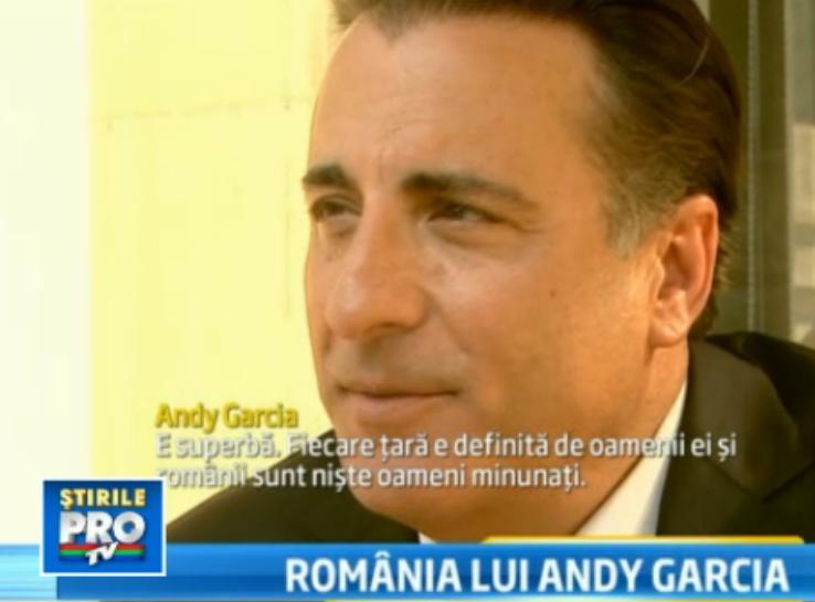 Andy Garcia, indragostit de Romania. Ce aspect ar schimba, totusi, daca ar sta in puterea lui