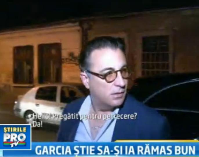 Andy Garcia si-a luat adio de la Romania, dupa filmarile la