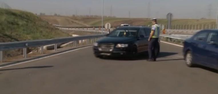 Razie a politiei pe autostrada Arad - Timisoara. Cu ce viteza au fost prinsi la bord cativa soferi