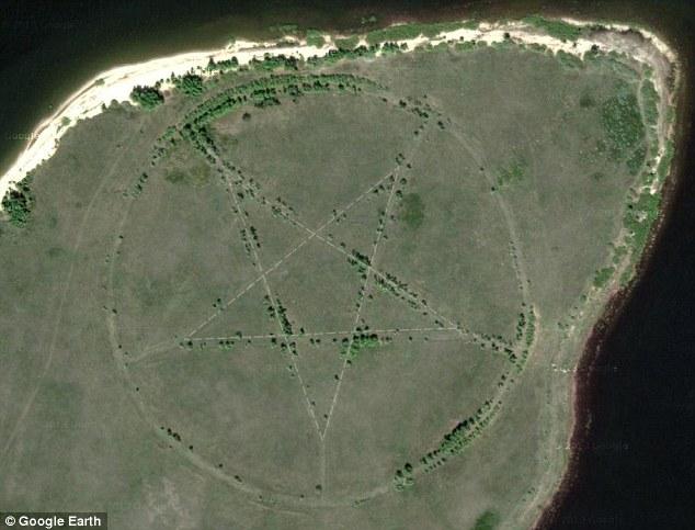 Misterul pentagramei aparute pe teritoriul Kazahstanului si vizibila cu Google earth