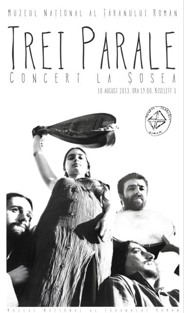 Concert pe muzica lui Anton Pann la Muzeul Taranului Roman cu trupa Trei Parale
