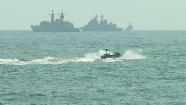 Primele imagini ale pregatirii pentru cel mai mare show naval din Romania, de Ziua Marinei Militare