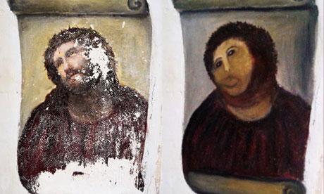 Gafa transformata intr-o opera de arta. Turistii se inghesuie sa vada aceasta fresca distrusa
