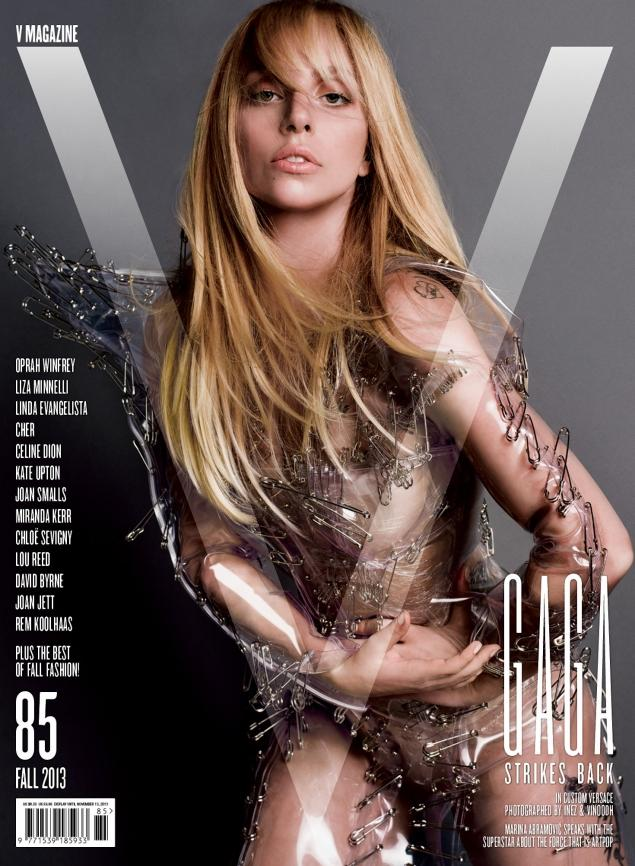 "Aparitie incendiara pe coperta revistei americane ""V"". Cum a pozat de aceasta data Lady Gaga"