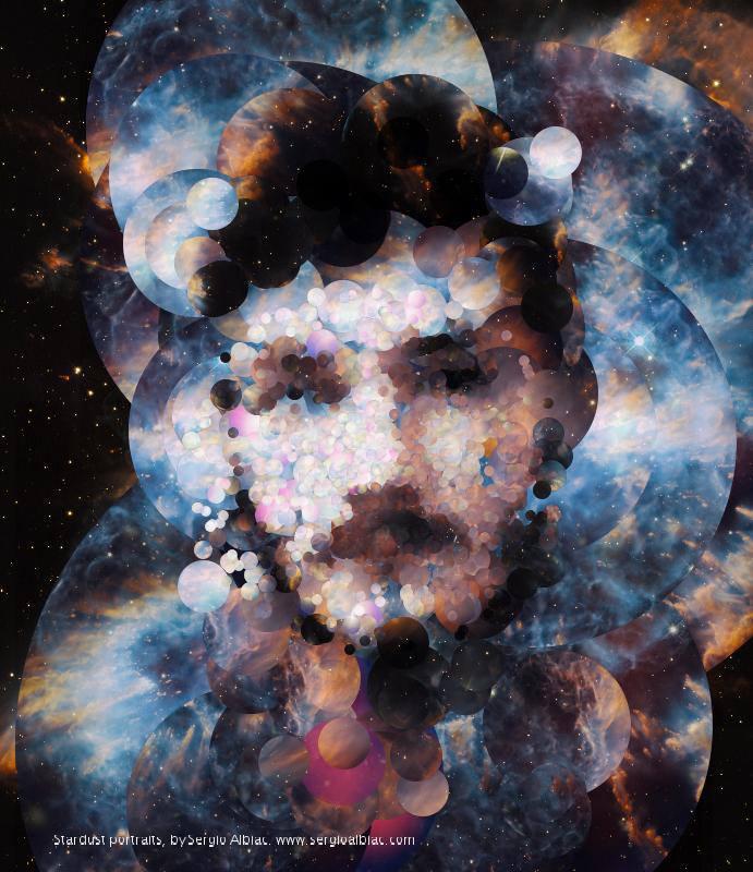 Un fotograf creeaza portrete cu ajutorul imaginilor preluate din spatiu, de catre telescopul Hubble
