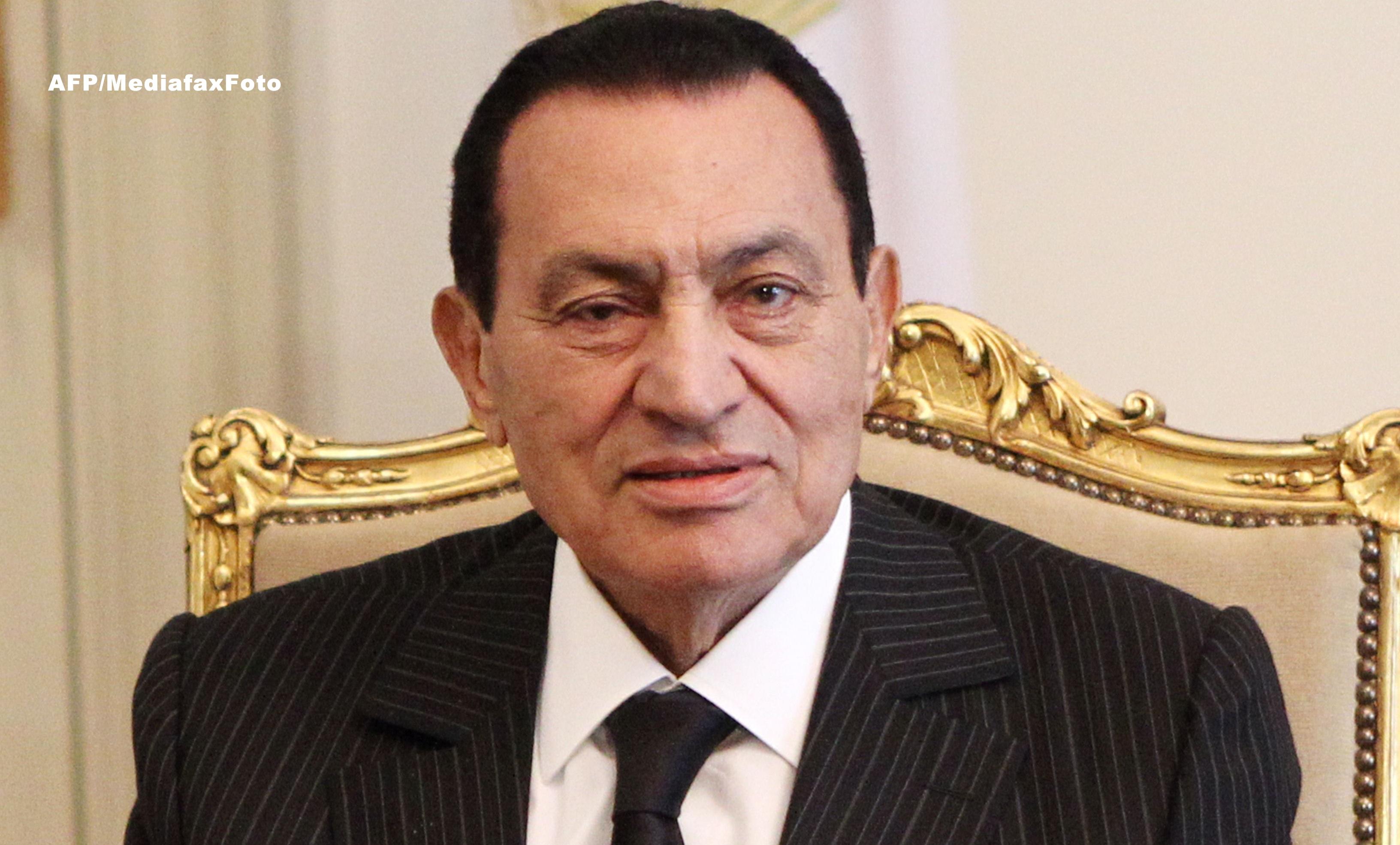 Hosni Mubarak a fost transferat la un spital militar. Fostul presedinte ramane in regim de detentie