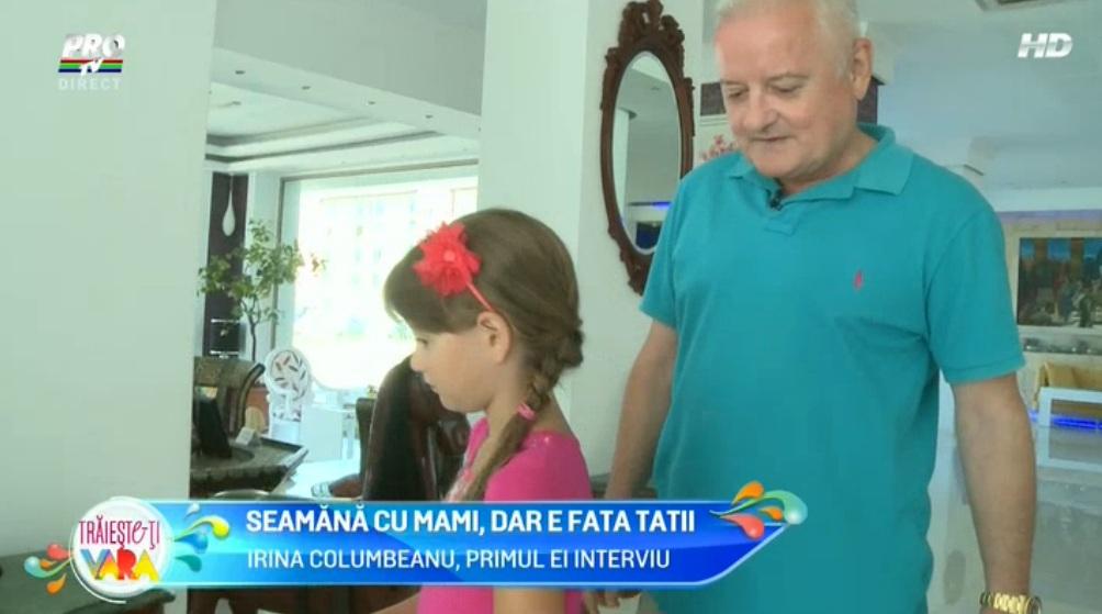 Irinuca, fiica Monicai Gabor si a lui Irinel Columbeanu, primul interviu, la