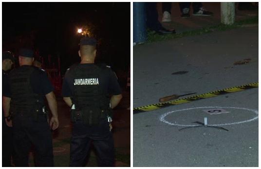 Filmul atacului in lant din Craiova. Un bolnav psihic a terorizat un cartier intreg, politia l-a oprit cu focuri de arma