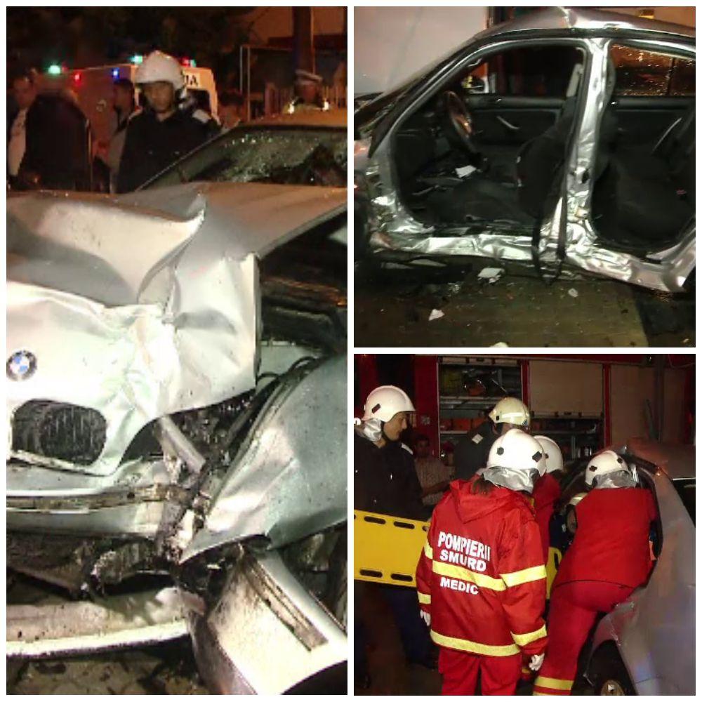 Accident grav intr-o intersectie din Timisoara provocat de un sofer baut, care a trecut pe rosu. O femeie a ajuns la spital