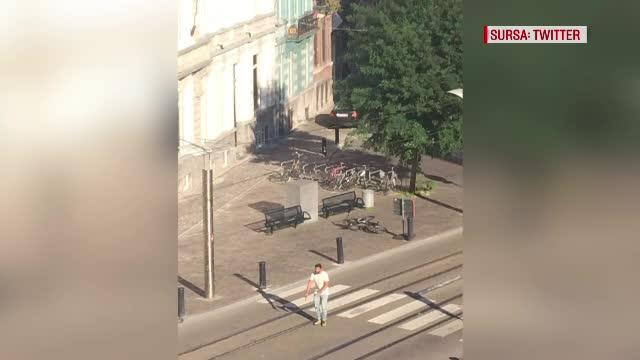 Impuscaturi in centrul unui oras mare din Belgia. Un barbat inarmat a fost ucis de politie