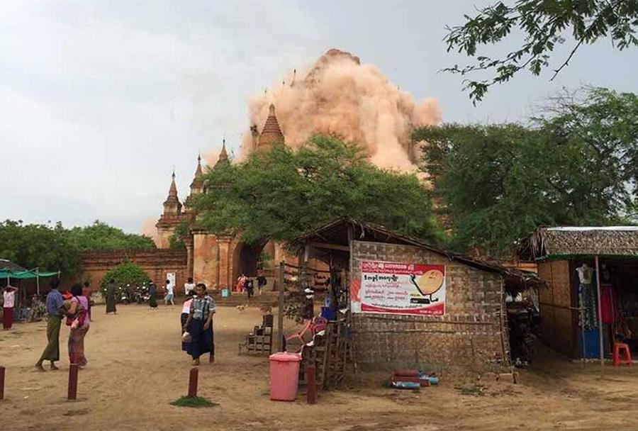 Cutremur cu magnitudinea 6,8, in Myanmar, resimtit pana in India. O persoana a murit si mai multe temple au fost distruse