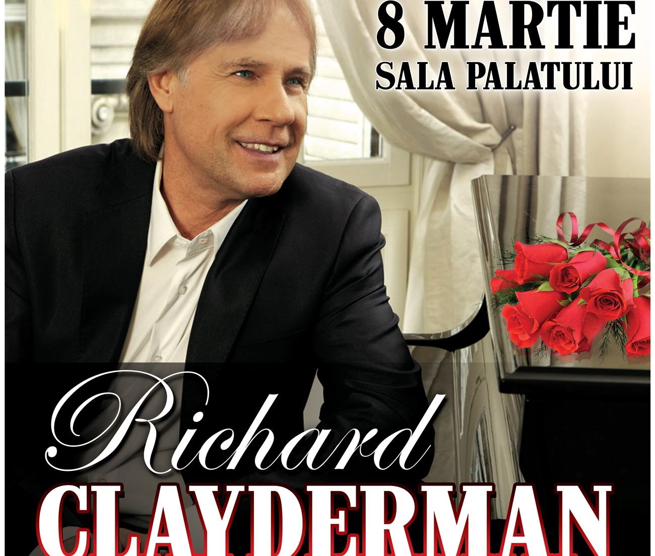 Concert special cu Richard Clayderman, de Ziua Femeii. Pentru prima data, pianistul va canta cu Orchestra Simfonica Bucuresti