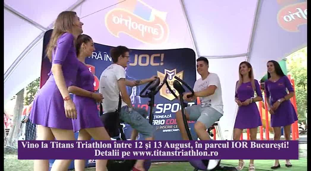"""(P) """"Vino la Titans Triathlon, între 12 şi 13 August, în parcul IOR, Bucureşti!"""""""