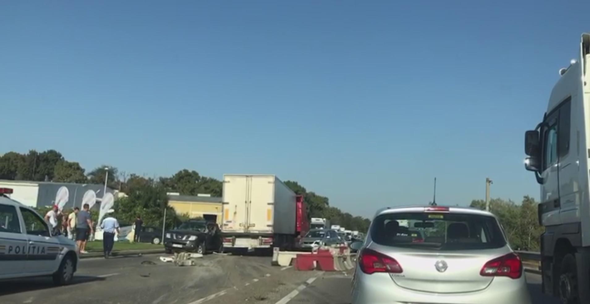 Accident pe Centură. Traficul e îngreunat între Tunari şi Otopeni