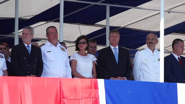 Ziua Marinei 2018. Iohannis a vorbit despre securitatea regională, la cel mai mare spectacol naval al anului. VIDEO
