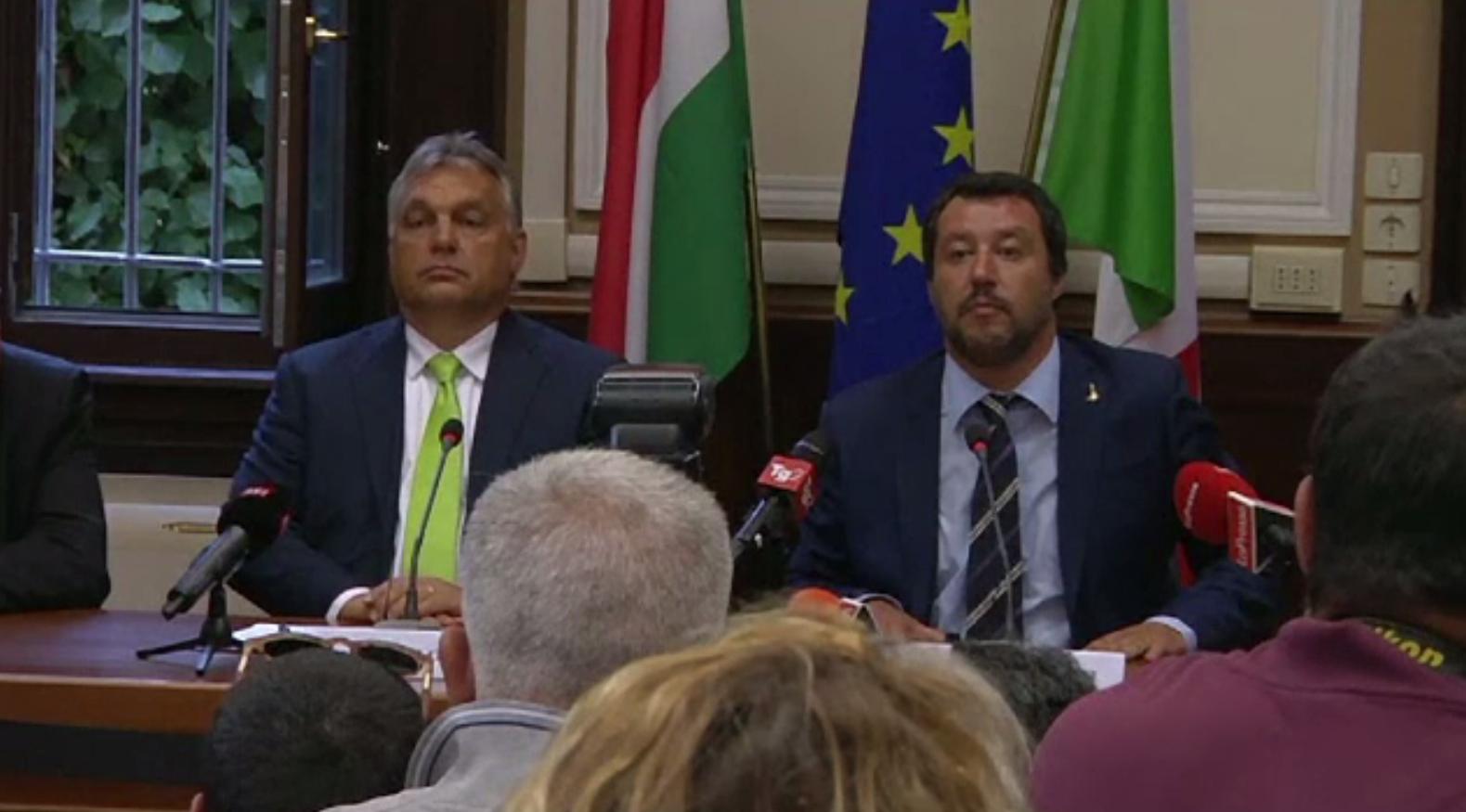 Viktor Orban și Matteo Salvini l-au nominalizat pe Macron ca fiind inamicul comun. Reacția liderului francez