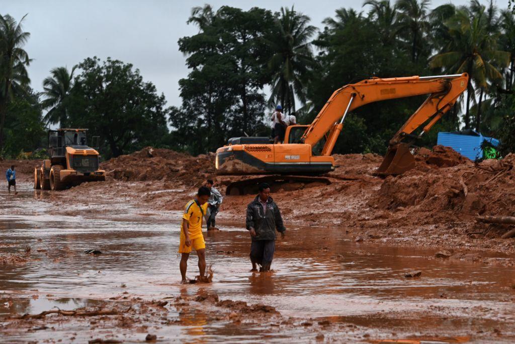 Alunecări de teren în Myanmar. Operațiune de amploare pentru căutarea victimelor
