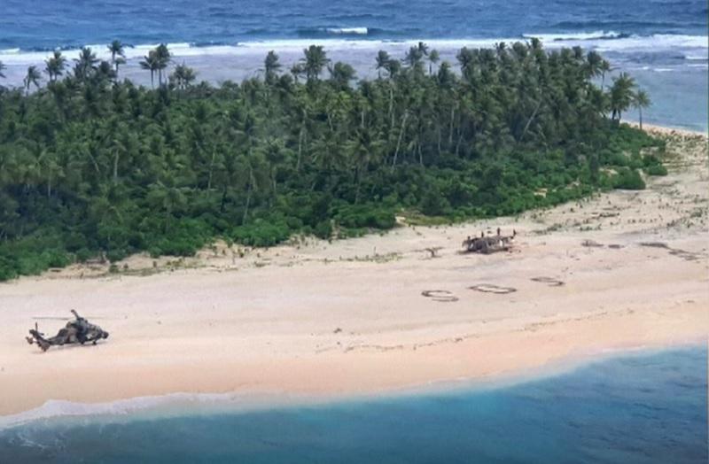 VIDEO Cum au fost găsiți trei marinari care au naufragiat pe o insulă nelocuită din Pacific