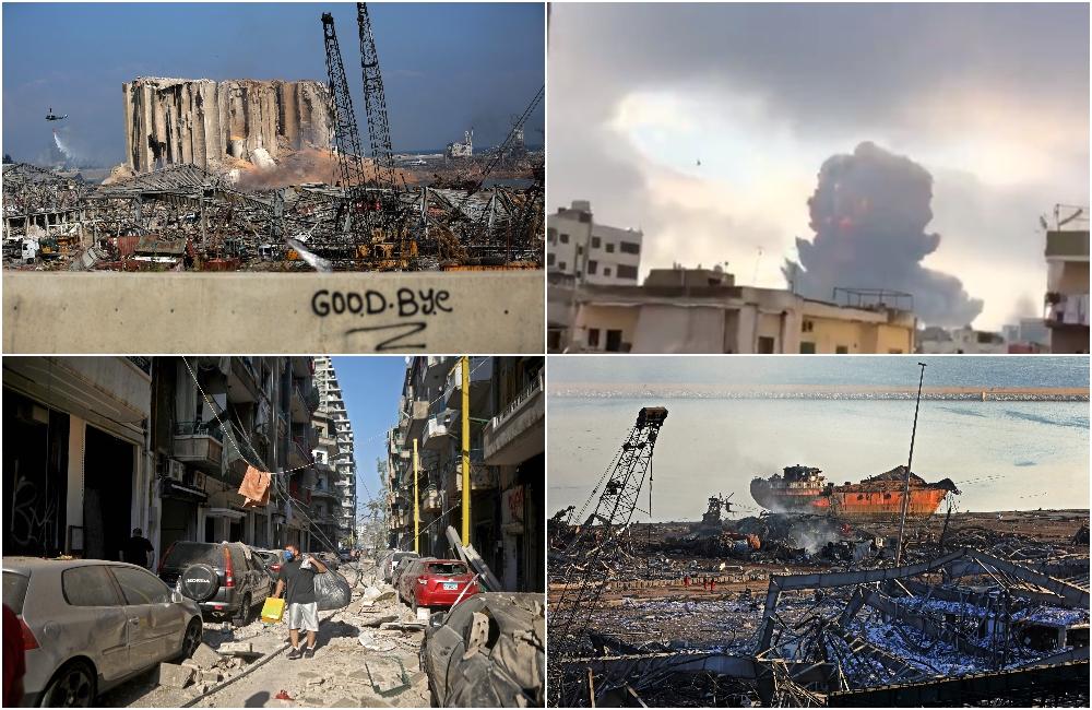 Imaginile dezastrului din Beirut. Stare de urgență în capitala Libanului după explozie. GALERIE FOTO