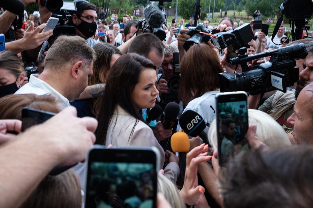 Svetlana Tihanovskaia îndeamnă la mai multe greve în Belarus pentru a forţa noi alegeri