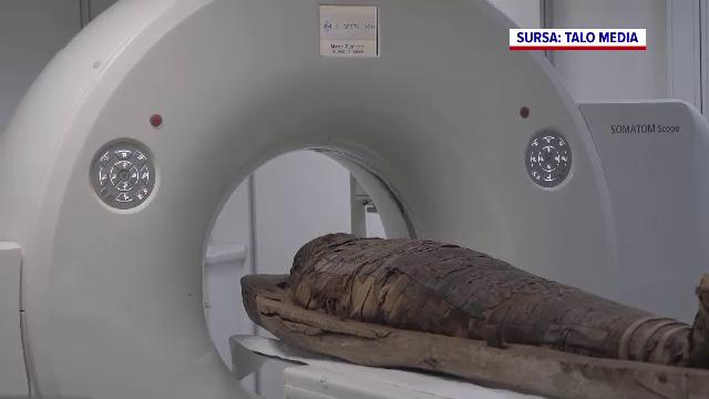 Premieră în România: o mumie de peste 2.000 de ani a fost scanată cu un computer tomograf. Ce vor să afle cercetătorii