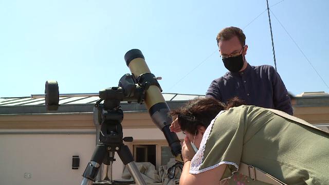 Telescop special, care urmărește traseul soarelui, la Observatorul Astronomic București