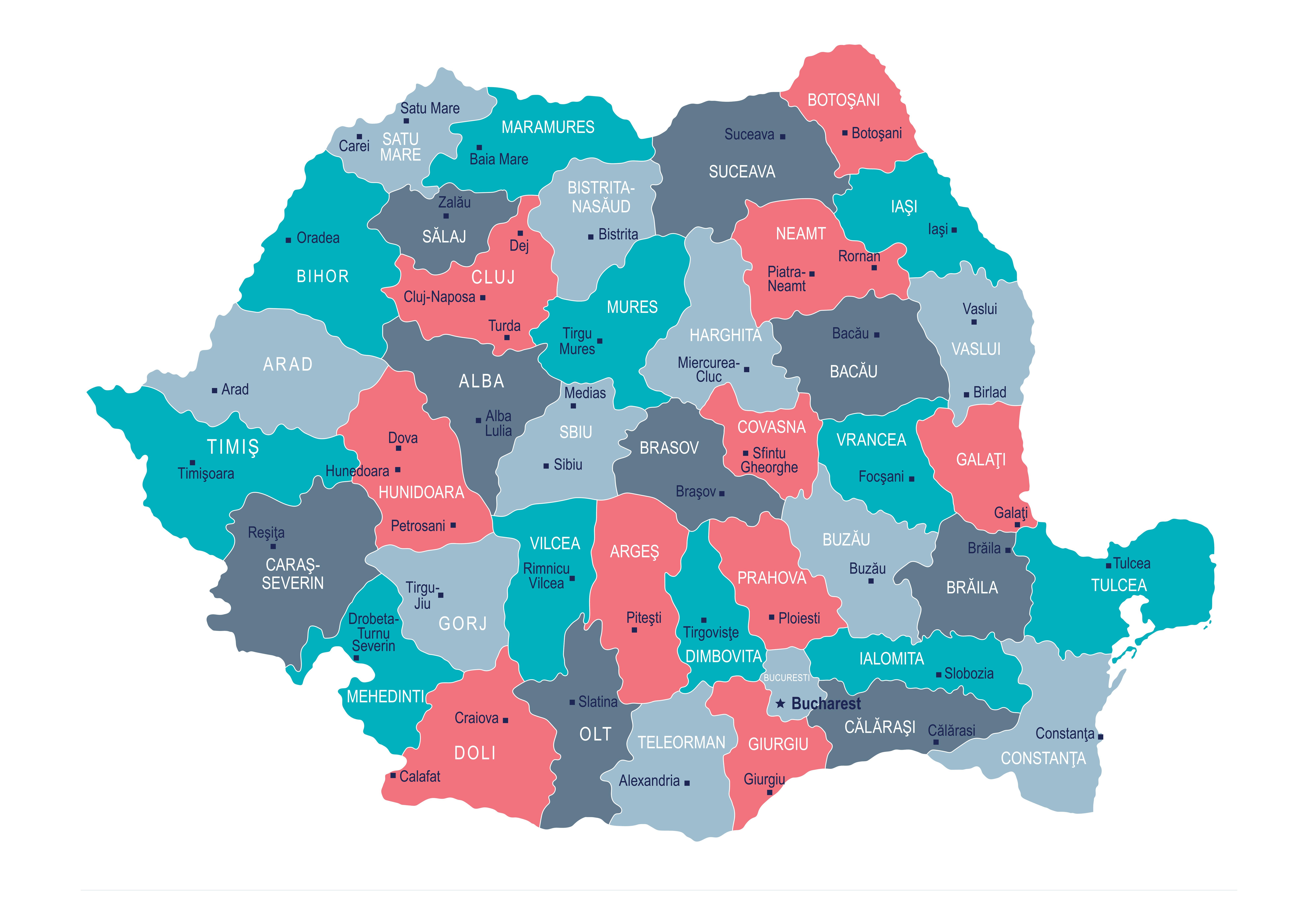 Harta cazurilor de COVID. Unde s-au înregistrat cele mai multe infectări în ultimele 24h