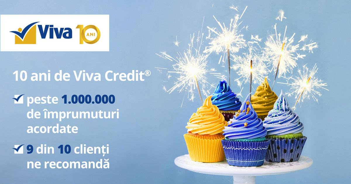 (P) CONCURS: Viva Credit sărbătorește 10 ani de la primul împrumut acordat 100% online!